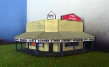 CORNER SHOP Post Office General Store 9x9cm N 1/160 scale Laser cut Wood kit MTB