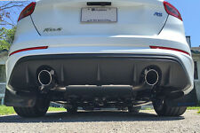Rally Armor Mud Flaps Black w/NITROUS BLUE Logo 2012-2017 Focus SE ST RS Hatch