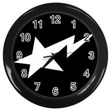 "Bape STA Wall Clock (Black) Round Large 10"" for Home Business shop Bar Gift NEW"