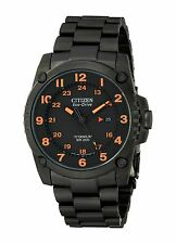 NEW Citizen Eco-Drive BJ8075-58F STX43 Super Titanium Black IP Men's Watch SD