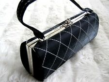 Black & White Diamond check Rigid Hard case Vanity Box Handbag clutch Purse