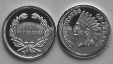 (25) 1 GRAM 0.999+ PURE SILVER ROUNDS INDIAN HEAD PENNY DESIGN 2014