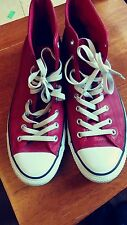 USED CONVERSE Chuck Taylor All Star High Red Leather Sneakers Mens Size 13