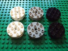 Lego Technic/Mindstoms NXT ~ Mixed Lot Of 6 Round Bricks 4x4 w/Axle Hole #ujkyl