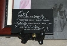 Serenity Prayer -Black marble Alcoholics Anonymous AA support gift inspirational