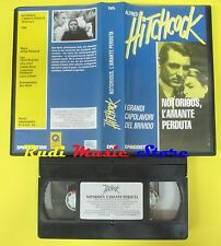 film VHS NOTORIOUS L'AMANTE PERDUTA 1993 ALFRED HITCHCOCK Deagostini(F40** ) dvd