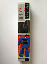 NEW Old Stock Vintage RARE Robot Watch BLACK Transformer GoBots Kronoform 80's