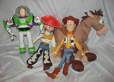Lot of Large Toy Story Electronic Talking Figures Buzz Lightyear, Woody, Jessie,