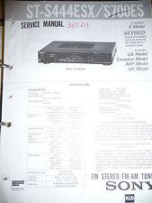 Service Manual-Anleitung für Sony ST-S444ESX/ST-S700ES  ,ORIGINAL
