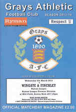 2013/14 GRAYS ATHLETIC V WINGATE & FINCHLEY 05-03-2014 Ryman League Premier