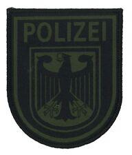 Patch Polizei Bundespolizei SEK BFE GSG 9 Spezialeinheit subdued tarn oliv NEU!