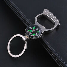Multi-function Foot Keyring Keychain Car Key Chain For Compass Bottle Opener New