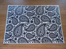 Sticker Bomb sheet - Black and White Paisley Print - A4 size
