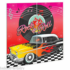Classic 50's 1950's Rock & Roll Car Party Scene Setter Wall Decorating Kit 50s