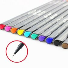 10 Color Set Watercolor NEW Fine Line Pen Painting Tools Brush  Art Stationery
