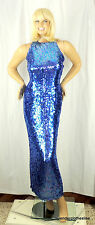 Jas Jas Designs 4 Blue Sparkle Shiny Sequin Prom Evening Sexy Daring Gown Dress