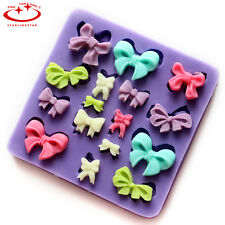 Bow Tie Bowknot Silicone Mold Candy Chocolate Cupcake Mold Cake Decorating Tool