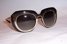 NEW DOLCE & GABBANA SUNGLASSES DG 6104 501/8G GOLD BLACK/GREY AUTHENTIC