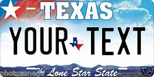 Texas 2009 License Plate Personalized Custom Auto Car Bike Moped Motorcycle Tag