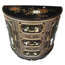 MOTHER OF PEARL ORIENTAL FURNITURE - MOTHER OF PEARL HALF MOON CABINET