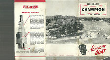 Champion Spark Plugs for Boats 1956 Catalog Brochure