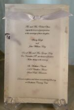 50 HANDMADE MULBERRY PAPER with VELLUM OVERLAY WEDDING INVITATIONS PERSONALIZED