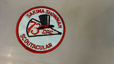 Vintage Boy Scout Patch Unused Sakima Showman Scoutacular 1973 CAC