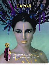 PUBLICITE ADVERTISING 054   2010  CARON  parfum SACRE pour femme