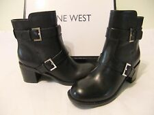 NINE WEST Lorena Black Leather Bootie Ankle Boot Size 9 NIB $140
