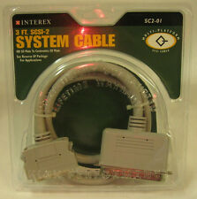 SCSI 1 to 2 Cable 50 pin to HD50 pin CN50 Centron 50 Centronics I II to  3' foot