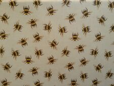 TEX EX ORIGINAL BEE SWARM LINEN BUMBLEBEE INSECT UK PRINTED CURTAIN FABRIC