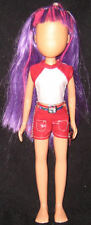 What's Her Face Purple/Pink Hair - Fashion Doll w/ Outfit, Blank Face