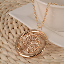 RF GOLD Divergent Tree Selfless Wisdom Pendant Necklace Silver Chain