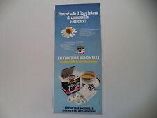 advertising Pubblicità 1973 CAMOMILLA FILTROFIORE BONOMELLI