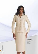 """CHANCELLE SKIRT SUIT/NEW WITH TAG/RETAIL$269/SIZE 14/GOLD/LINED/SKIRT LENGTH 32"""""""