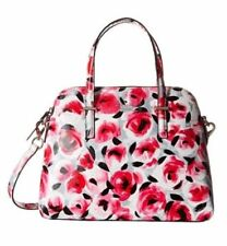 New Kate Spade Cedar Street Maise Rose Posy Red Leather Bag Satchel Pink