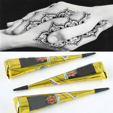 Natural Herbal Henna Cones Removable Tattoo Black Body Art Paint Mehandi Ink A+
