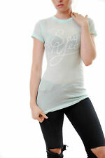 Wildfox Women's Skinny Jaclyn's Say Yes Vintage Tee Spring Water Size S BCF510