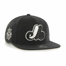 Montreal Expos - '47 Brand MLB Snapback Hat Cap -Flat Brim Sure Shot Cooperstown