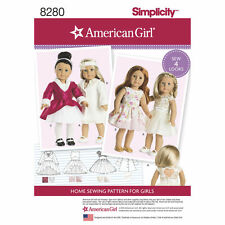 SEWING PATTERN! MAKE DOLL CLOTHES! BY AMERICAN GIRL! DRESS~MATCHING GIRL PATTERN