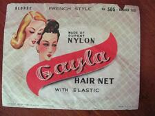Vintage Gayla Blonde French Style Dupont Nylon Bobbed Size Hair Net (Included)