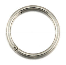 Titanium Seamless Segment Clicker Septum Ear Lip Nose Ring Piercing Hinged Hoop