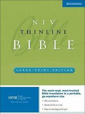 NIV Thinline Bible by Zondervan Staff (2005, Hardcover, Large Type)
