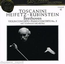 Toscanini Collection Vol. 41 - Beethoven: Concerti, Rubinstein, Heifetz - CD