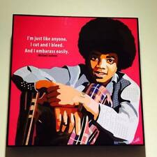 Young Michael Jackson canvas quotes wall decals photo painting pop art poster