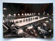 MODENA Piscina comunale notturno vecchia cartolina