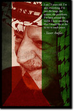 Yasser Arafat ART PRINT Poster Photo Cadeau Citation Palestine leader palestinien