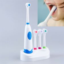 Electric Oral Care Toothbrush Replacement With 4 Teeth Brush Heads Bathroom QT