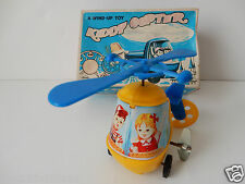 VINTAGE WIND-UP ST KIDDY COPTER MADE JAPAN PLASTIC + METAL LITHOGRAPHED WORKS! 3