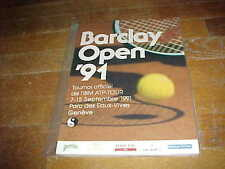 1991 Barclay Open Tennis Program